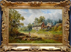A Summer Afternoon - 19th Century English Victorian Landscape Oil Painting