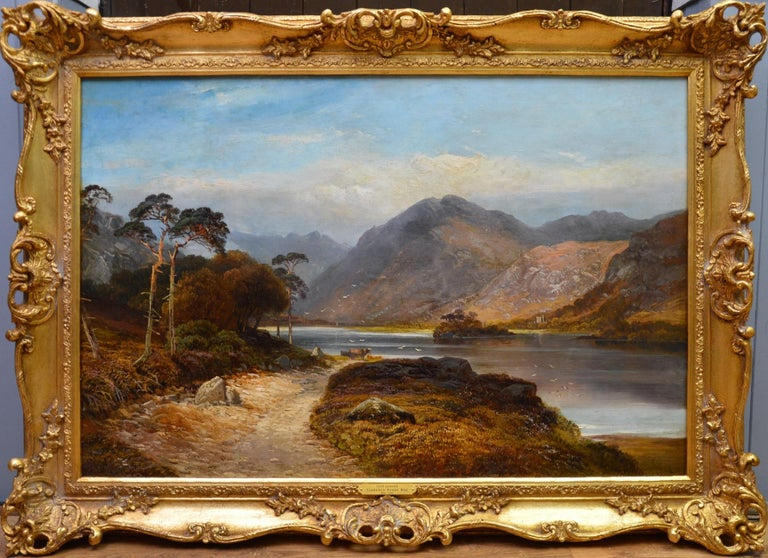 Clarence Henry Roe Landscape Painting - Loch Lomond - 19th Century Landscape Oil Painting of the Scottish Highlands