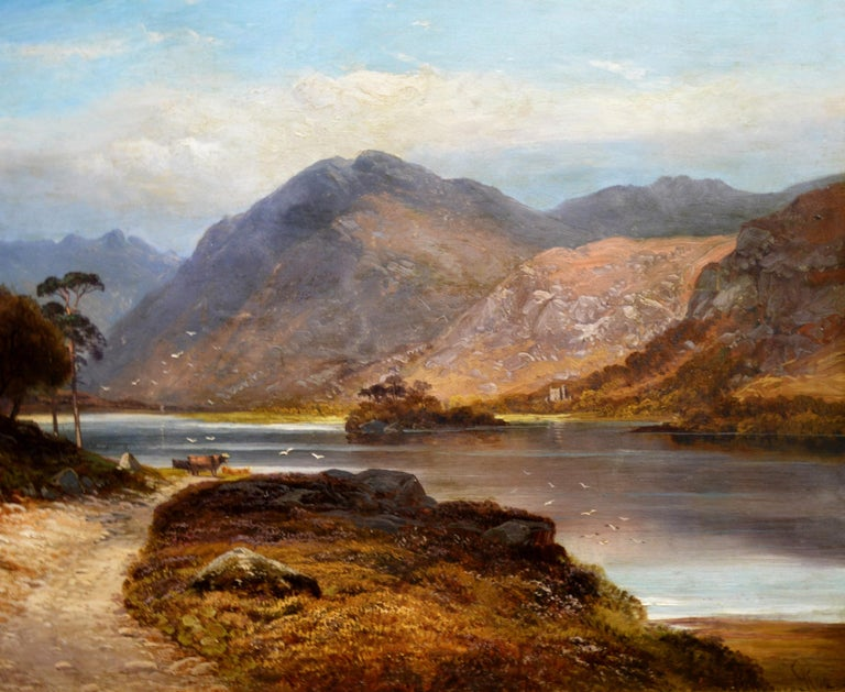 Loch Lomond - 19th Century Landscape Oil Painting of the Scottish Highlands For Sale 2