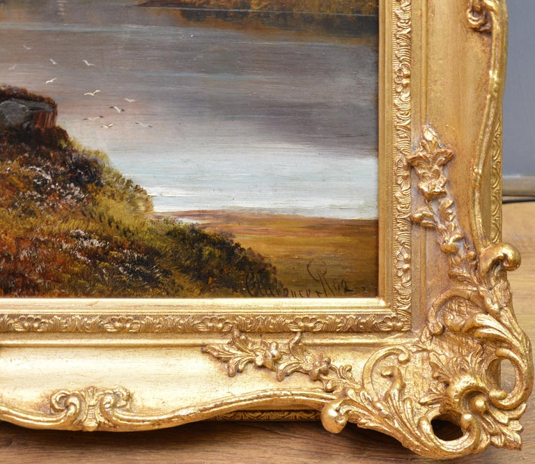 Loch Lomond - 19th Century Landscape Oil Painting of the Scottish Highlands For Sale 7