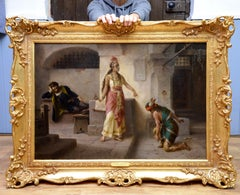 Intervention of Pocahontas - 19th Century Italian Oil Painting American History