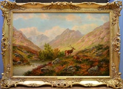 Glen Sannox, Isle of Arran - 19th Century Scottish Highland Oil Painting