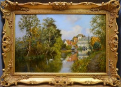 Flatford Mill - 19th Century Landscape Oil Painting of Constable Country