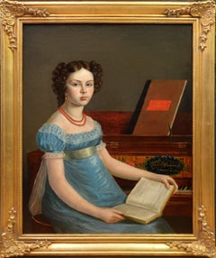 Emma Gisborne Clementi - Georgian Girl at the Piano - Wife of Muzio Clementi