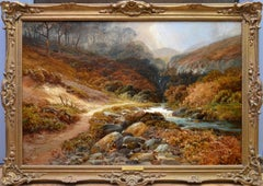 Steall Falls and the Nevis Gorge - 19th Century Scottish Highland Oil Painting