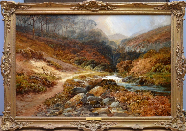 Clarence Henry Roe Landscape Painting - Steall Falls and the Nevis Gorge - 19th Century Scottish Highland Oil Painting