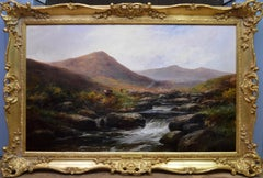 On the Tavy - 19th Century Landscape Oil Painting of Dartmoor Sherlock Holmes