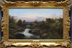 Garford Bridge, Dartmoor - 19th Century Landscape Oil Painting - Sherlock Holmes