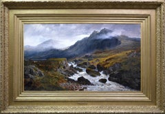 Ffestiniog, North Wales - Large 19th Century Landscape Oil Painting