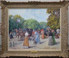 Le Jardin des Tuileries - Post Impressionist Oil Painting of Belle Epoque Paris
