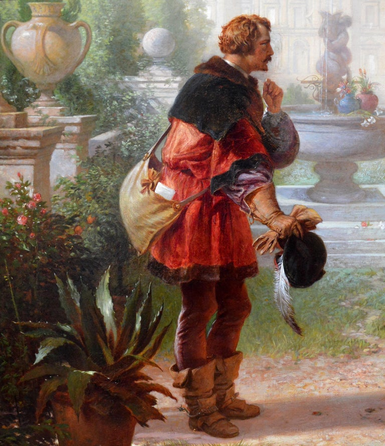 Katherine & Petruchio, 19th Century Oil Painting Shakespeare Taming of the Shrew For Sale 3