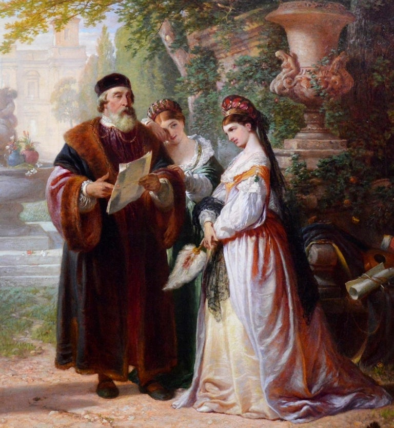 Katherine & Petruchio, 19th Century Oil Painting Shakespeare Taming of the Shrew For Sale 1