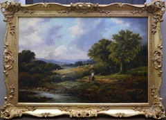 The Wheat Field - 19th Century Landscape Oil Painting of Summer Harvest 1879