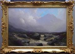 Ben Nevis, Scottish Highlands - 19th Century Landscape Oil Painting