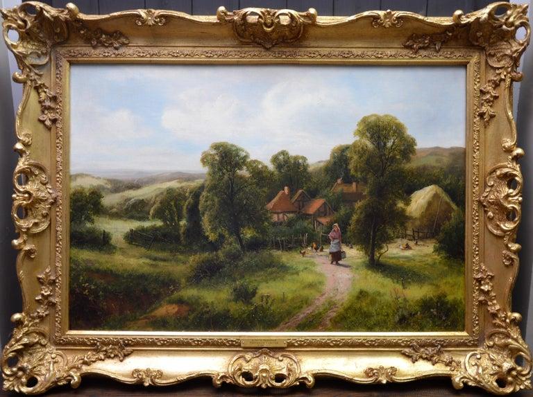 Frederick Carlton Landscape Painting - A Surrey Homestead