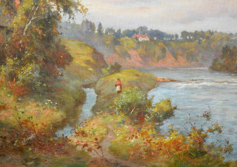 The River Tay near Stanley - 19th Century Scottish Oil Painting For Sale 4