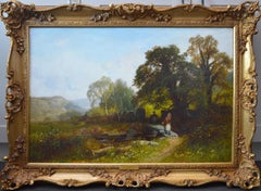 Near Capel Curig, North Wales - 19th Century Landscape Oil Painting