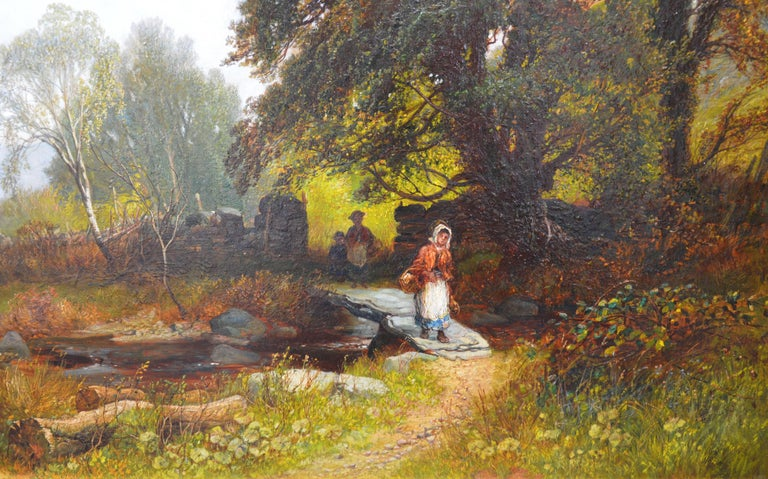 Near Capel Curig, North Wales - 19th Century Landscape Oil Painting  For Sale 1