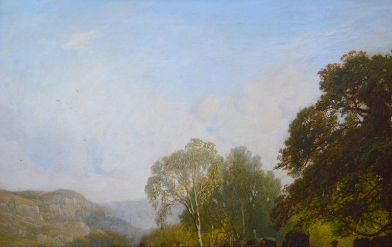 Near Capel Curig, North Wales - 19th Century Landscape Oil Painting  For Sale 5