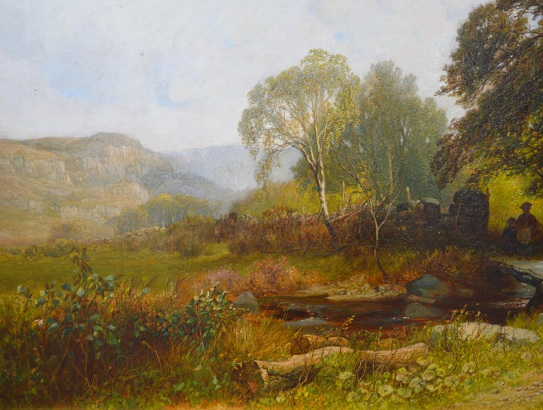Near Capel Curig, North Wales - 19th Century Landscape Oil Painting  For Sale 2