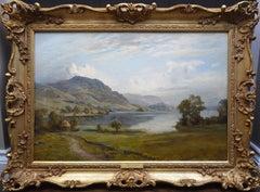 Loch Ard from Aberfoyle - 19th Century Scottish Landscape Oil Painting