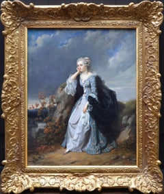 Une Liaison Dangereuse - 19th Century French Oil Painting of Elegant Lady