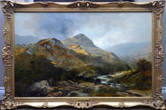 Moel Siabod - Very Large 19th Century Welsh Landscape Exhibition Oil Painting