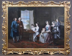 The Hopkins Family - Important Large Fine 18th Century English Oil Painting