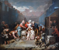 St. James' Day - Very Large 18th Century Royal Academy Oil Painting of London