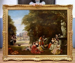 Summer Hill, time of Charles II - Huge 19th Century Royal Academy Oil Painting