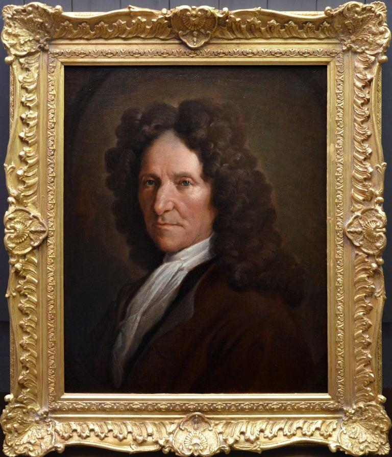 François de Troy (attributed to) Portrait Painting - Jean de La Fontaine - 17th Century French Portrait Oil Painting of Famous Poet