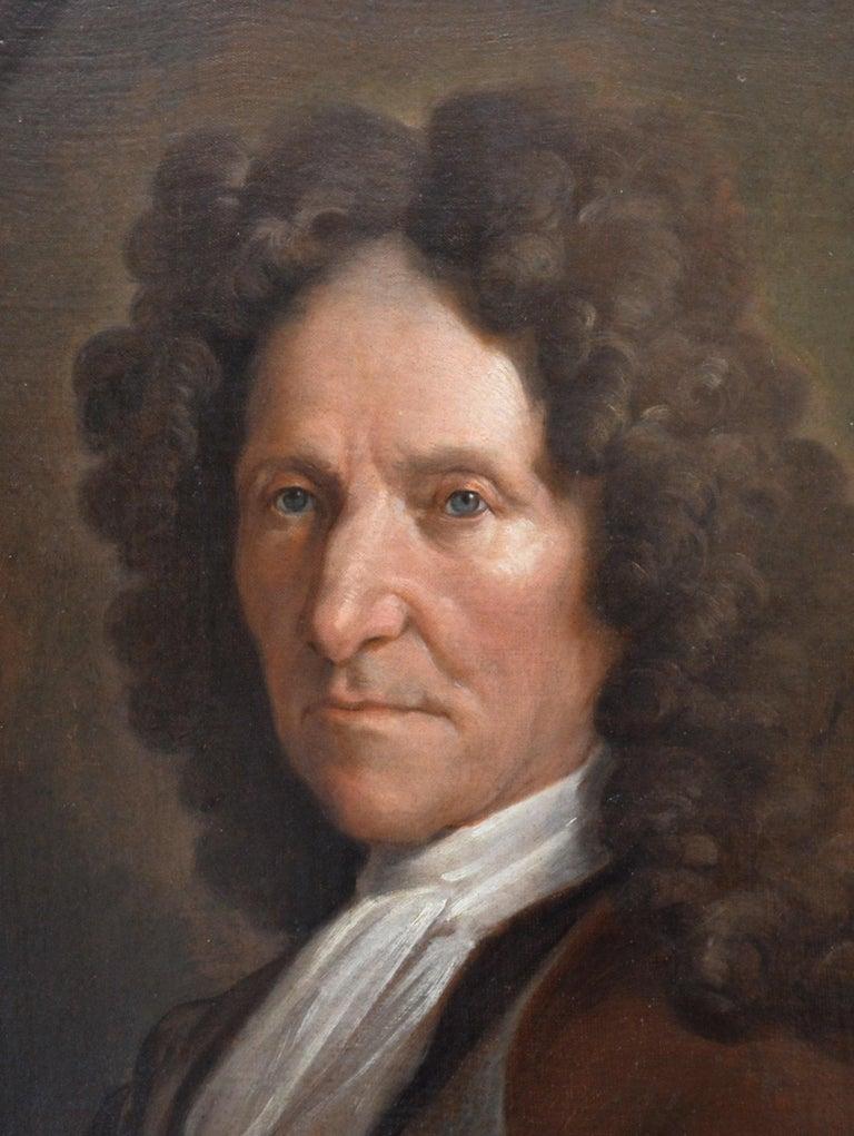 Jean de La Fontaine - 17th Century French Portrait Oil Painting of Famous Poet For Sale 1