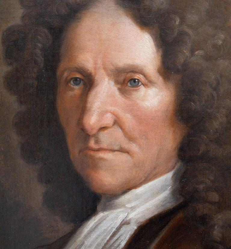 Jean de La Fontaine - 17th Century French Portrait Oil Painting of Famous Poet For Sale 2