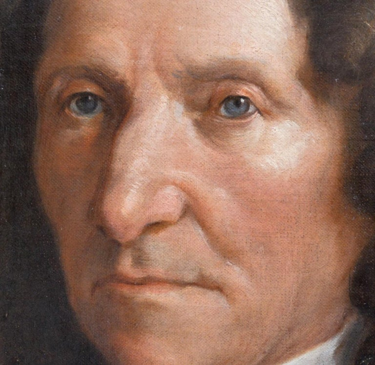 Jean de La Fontaine - 17th Century French Portrait Oil Painting of Famous Poet For Sale 3