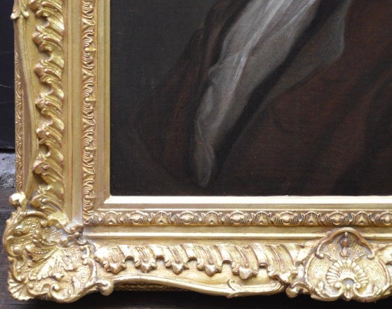 Jean de La Fontaine - 17th Century French Portrait Oil Painting of Famous Poet For Sale 4