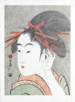 Japanese Art Figurative Painting Mario B Gil Snow Moon and Flowers Edo period