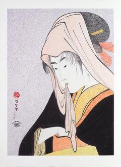 Japanese Art Figurative Painting Mario B Gil Love for a street-walker Edo period