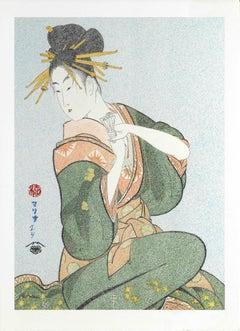 Japanese Art Figurative Painting Mario B Gil Hanazuma of the Hyôgaya House Eso