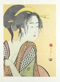 Japanese Art Figurative painting Mari B Gil Love for a farmer´s wife Edo period