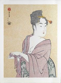 Japanese Art Figurative Painting Mario B Gil The fickle type Edo period