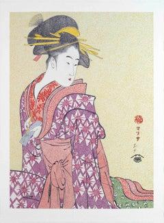 Japanese Figurative Painting Mario B Gil Somenosuke of the Matsubaya Edo period