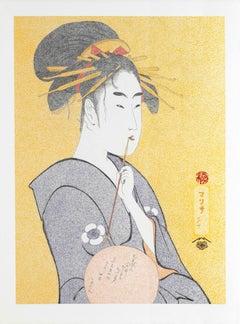 Japanese Art Figurative Painting Mario B Gil The courtese Hinakoto Edo period