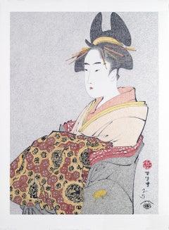 Japanese Art Figurative Painting Mario B. Gil Miyahito of The Ôgiya Edo Period