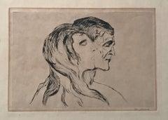 Edvard Munch Hode ved hode (Head by Head)