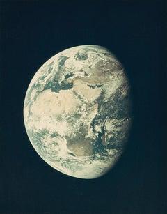 Earth, Apollo 10 Moon Mission, Vintage Color NASA Photography
