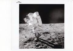 Edgar Mitchell by Alan Shepard, Apollo 14 Moon Mission, NASA Vintage Photograph