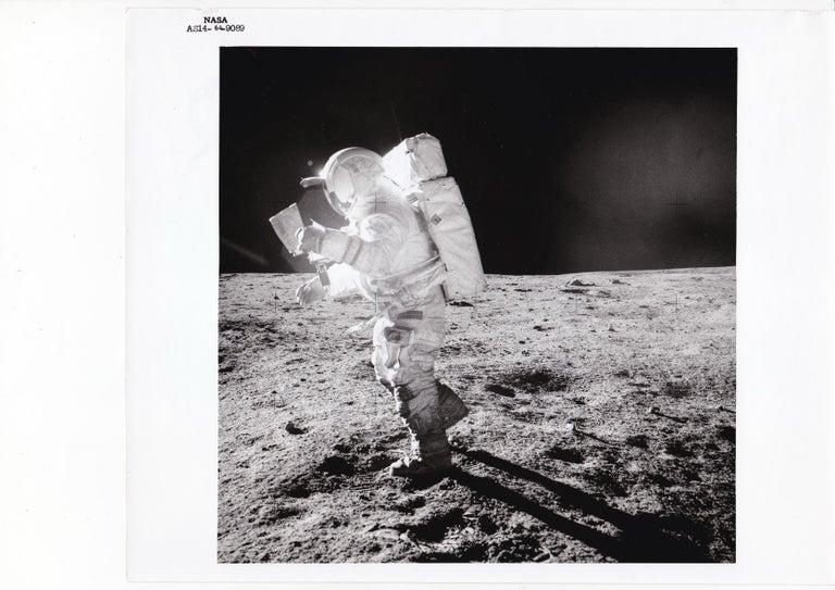 Edgar Mitchell by Alan Shepard, Apollo 14 Moon Mission, NASA Vintage Photograph - Gray Black and White Photograph by NASA