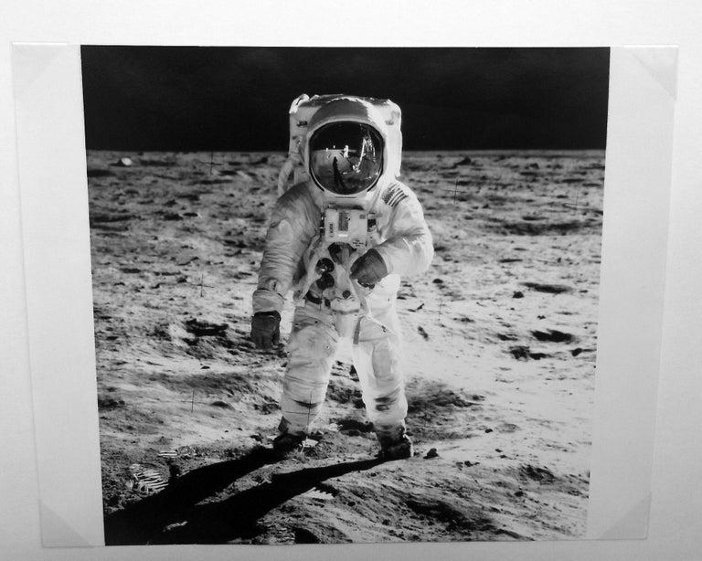 NASA Color Photograph - Buzz Aldrin's Sun Visor Reflects Neil Armstrong and Apollo 11, Vintage Photo