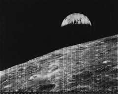 Lunar Orbiter I, Man's First Look at the Earth from the Moon, Vintage Print
