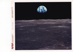 "Earth Rise by Neil Armstrong, Apollo 11 Moon Mission, Nasa ""Red Number"" Photo"